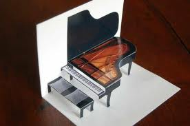 image of baby grand piano